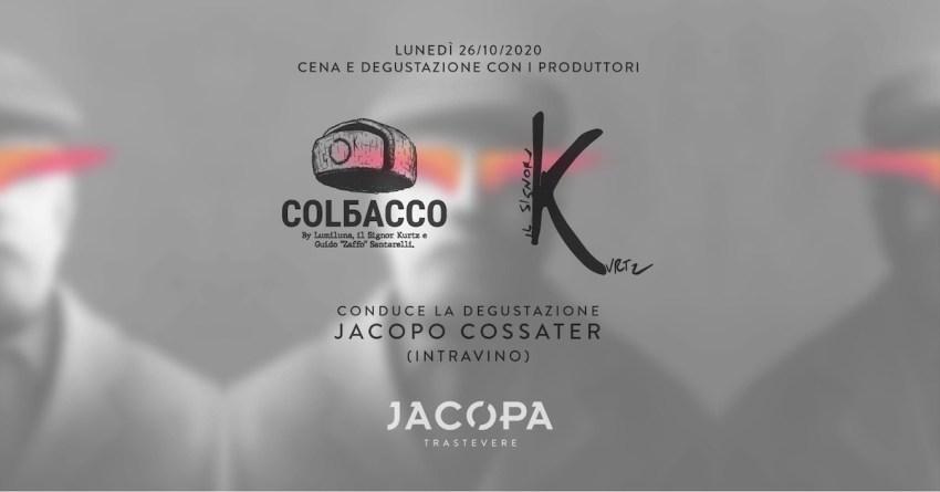Jacopa Cena degustazione Colbacco e Il Signor Kurtz
