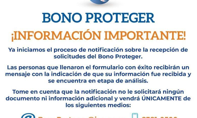 Photo of 33 mil personas recibieran el primer pago de Bono Proteger