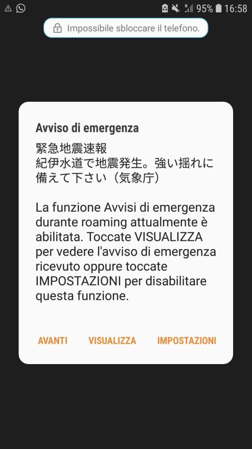 Avviso d'emergenza