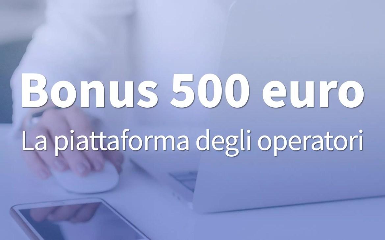 Bonus 500 euro, operatori