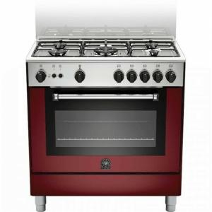 Cucina 80x50 Rossa LaGermania 5 fuochi con forno grande mod. AMN805MFESVIE