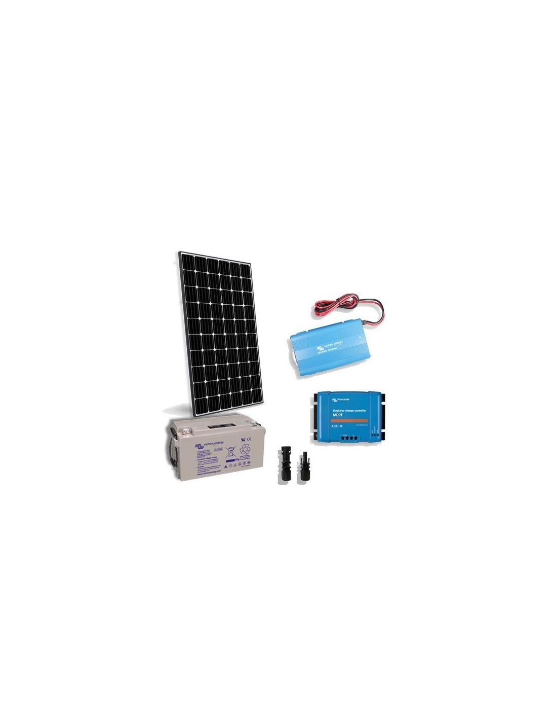300w 12v Cabin Solar Kit Lux European Panel Inverter W