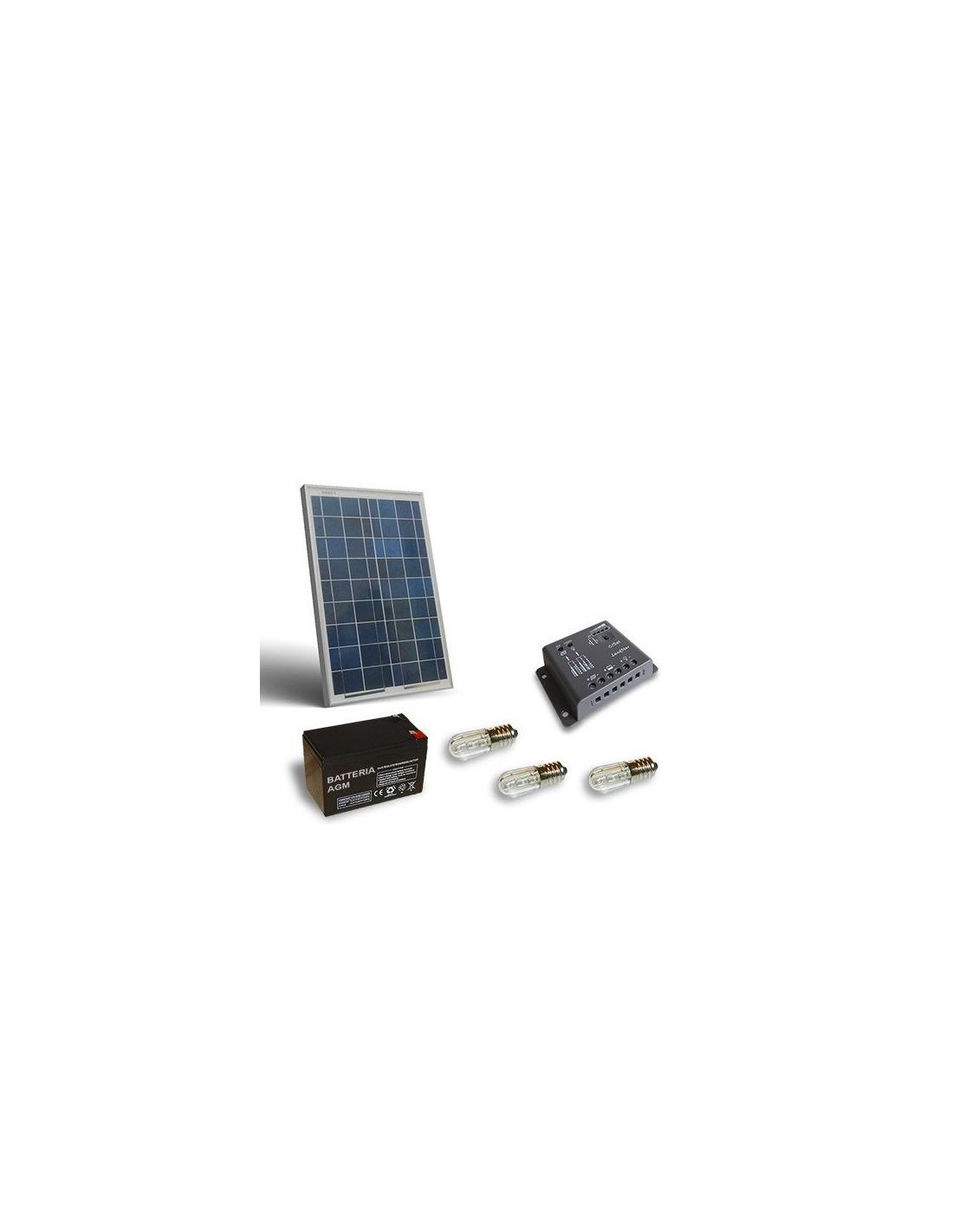 Votive Solar Kit 20w Photovoltaic Panel Agm Battery 7ah
