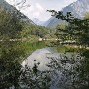 Veduta del lago di Vedana nel comune di Sospirolo