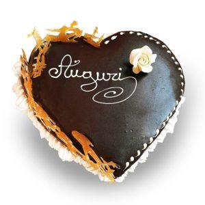 Consegna torta Auguri a forma di cuore online