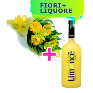 Consegna gerbere gialle e Limoncello online