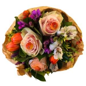 Consegna a domicilio bouquet con rose arancio online