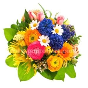 Bouquet con fiori misti di stagione