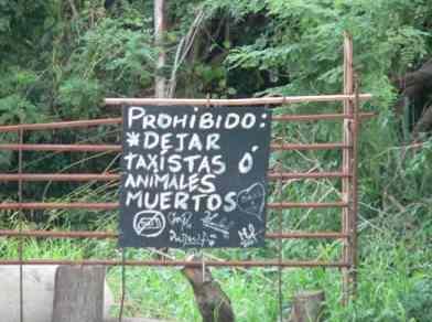 prohibido taxistas muertos