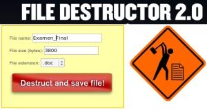 file destructor