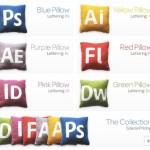 Almohadones de Photoshop, Illustrator y más