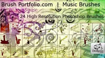 Brushes de música para Photoshop