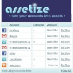 Assetize, sitio para vender cuentas de Facebook, Twitter, Gmail y otras redes sociales