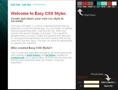 Easy CSS Styler: Creando estilos CSS