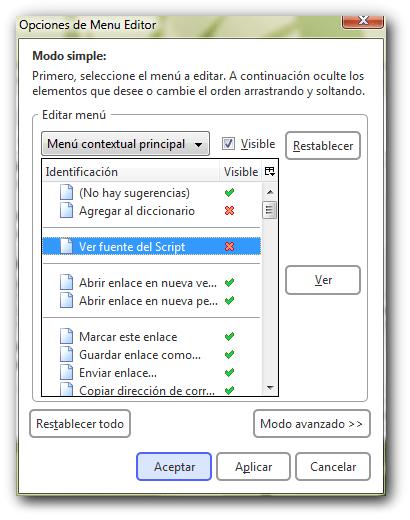 firefox menu editor