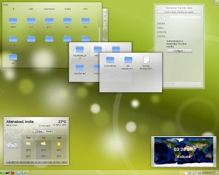 OpenSuse con KDE y theme Air
