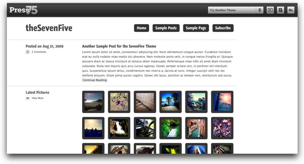theSevenFive, excelente tema para lifestream en Wordpress