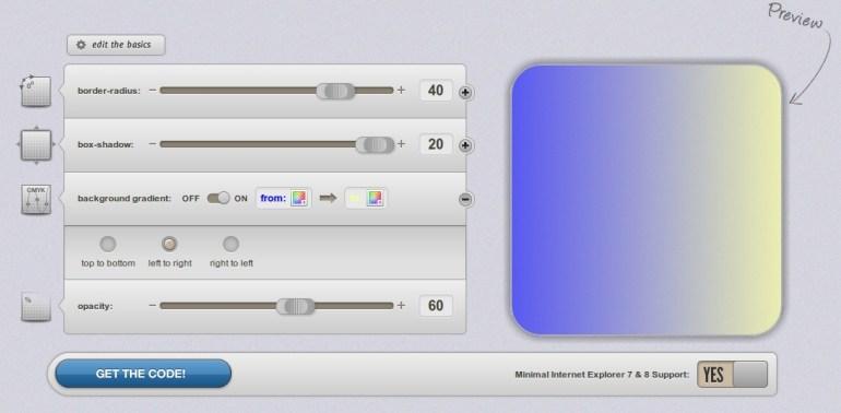 Generador de componentes en CSS3