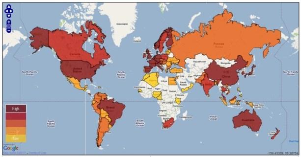 Mapa Software libre