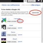 Google+ ya permite ignorar cuando te agregan usuarios