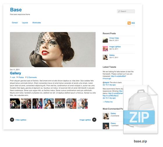 Base: Plantilla base para crear un tema de Wordpress