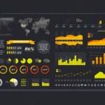 Kit de vectores con elementos para crear infografías