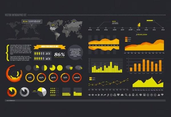 Kit de vectores para infografias