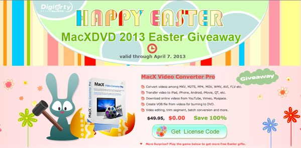 MacXDVD Easter Promo