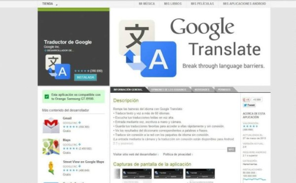 Nueva versión de Google Translate
