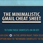 Chuleta minimalista de atajos de teclado para Gmail