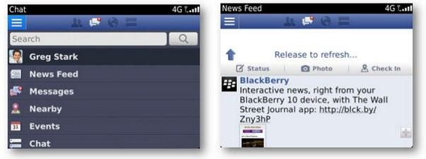 Descarga Facebook 4 0 para BlackBerry