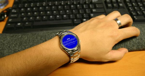 El reloj inteligente de Microsoft