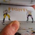 Animaciones de combates de Mortal Kombat y Dragon Ball hechas con dibujos en un cuaderno