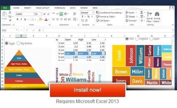 Infogram para Excel 2013