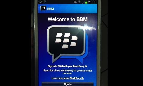 BBM en Samsung con Android