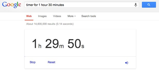 timer for 1 hour 30 minutes
