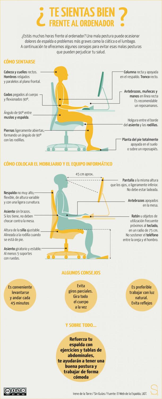 infografia ergonomia en la pc
