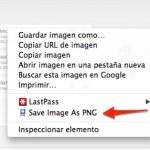 Guardar imágenes en formato WebP a PNG [Chrome]