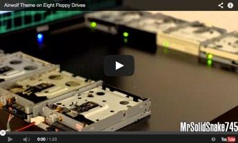 cancion de lobo del aire con 8 disqueteras