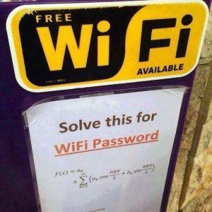 Humor Geek: ¿Quieres la clave WiFi? ¡Resuelve esto!