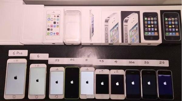 todos los iphones juntos