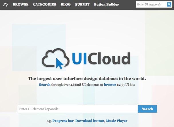 UICloud: Más de 1200 kits de interfaces gráficas gratis