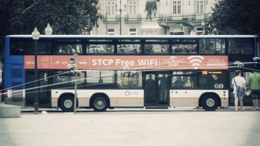 taxis y buses portugueses con wifi