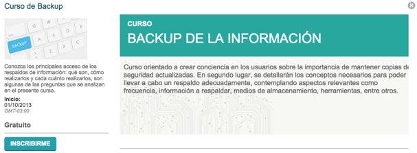 curso backup