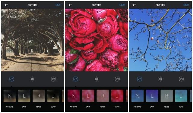 tres nuevos filtros instagram