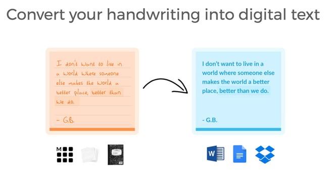 Transforma texto manuscrito en digitalizado