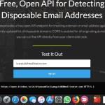 API gratuita para detectar direcciones de email descartables