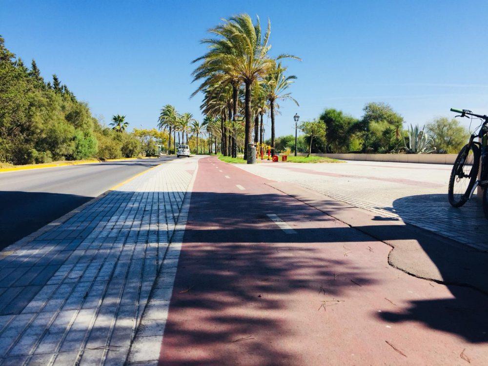 carril bici de La Puntilla