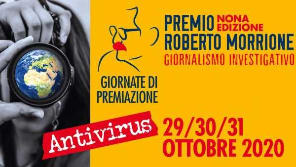 Stasera in TV: Serata di premiazione del premio Roberto Morrione - Interamente online, dalle 21.00,  su facebook e sul sito del Premio