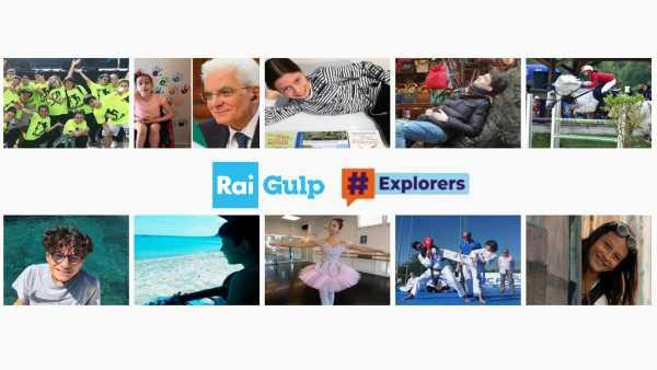 Oggi in TV:  #Explorers Community su Rai Gulp (canale 42) e su RaiPlay - Tanti ospiti per il magazine realizzato da remoto